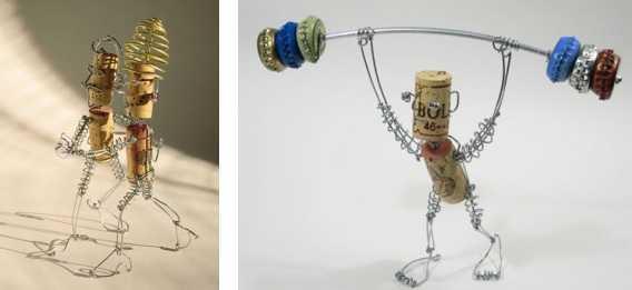Своеобразные роботы из металлолома