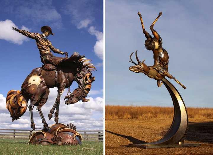 скульптуры из металлолома фотографии