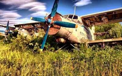самолет на металлолом
