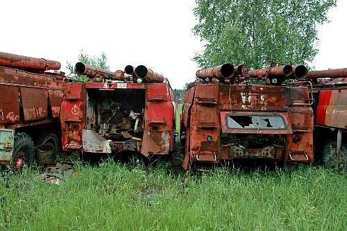 брошенная техника в Припяти