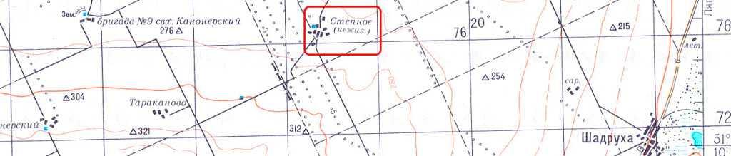 На топографических картах советских времен можно обнаружить нежилые деревни уже того периода