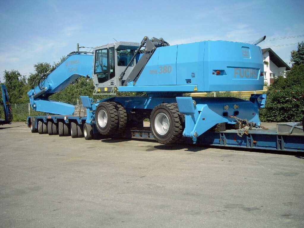 транспортировка перегружателя Fuchs MHL 380