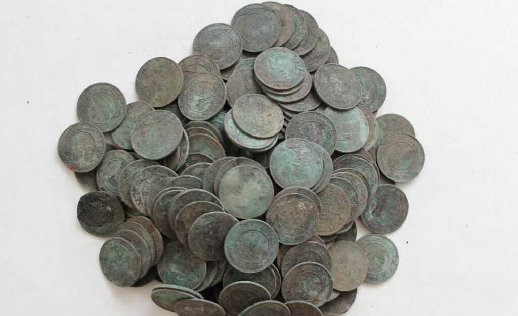 медные царские монеты на лом