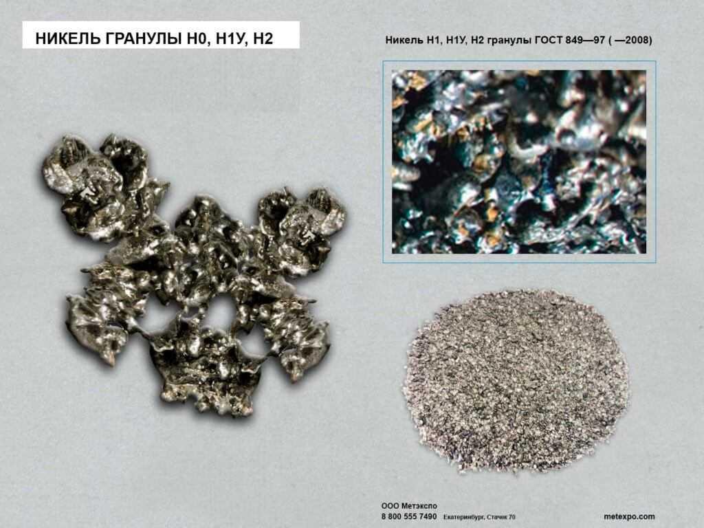 никель гранулы