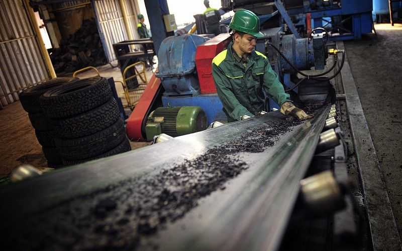 Получение резиновой крошки - переработка шин