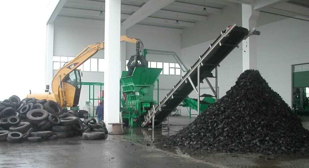 Утилизация резины на специализированном предприятии