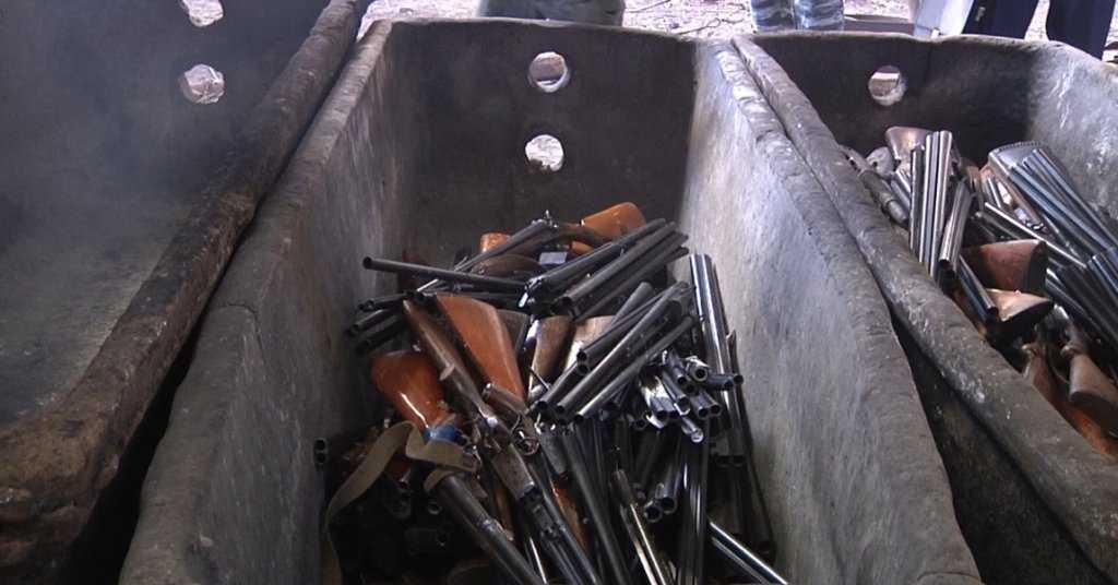 оружие готово к переплавке
