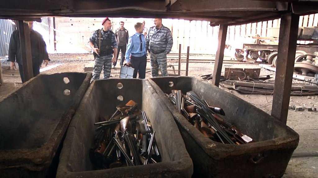 Оружие доставлено на комбинат в сопровождении сотрудников полиции