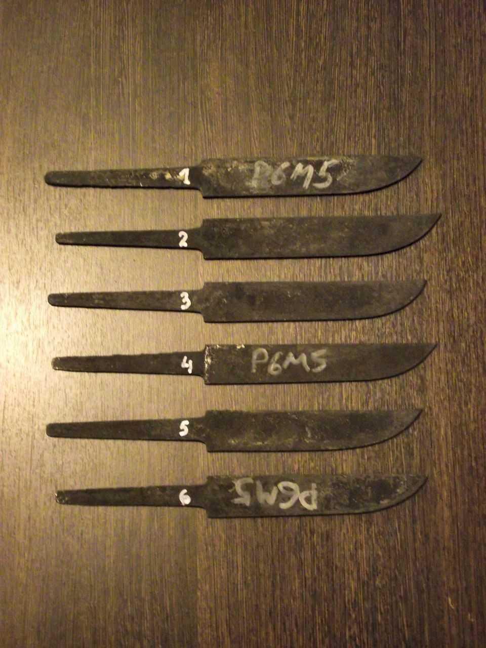 заготовки ножей р6м5