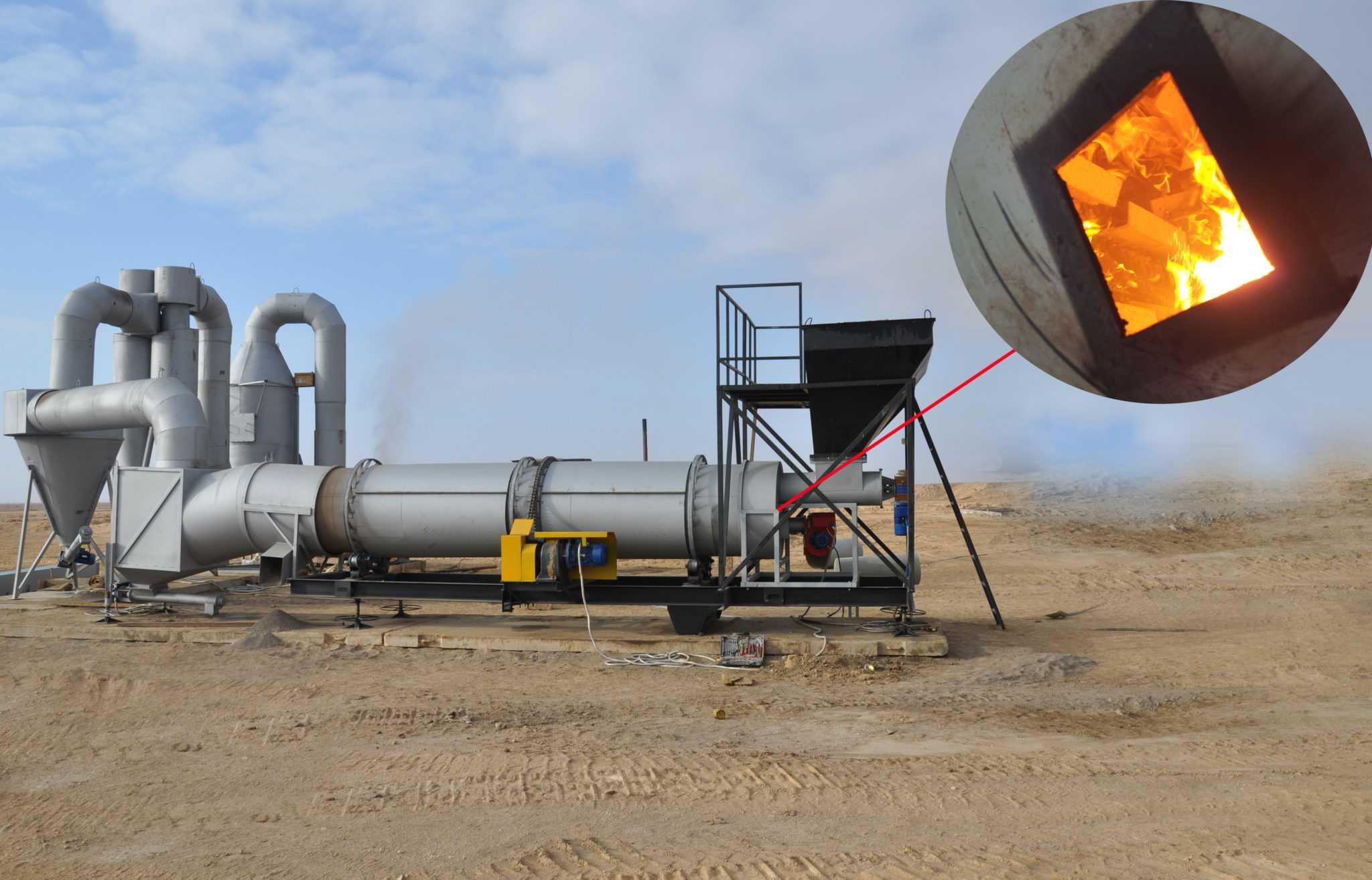 Установка сжигания нефтяных отходов