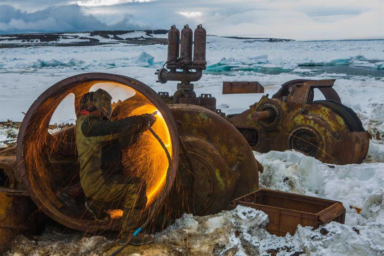 демонтаж металлолома в Арктике
