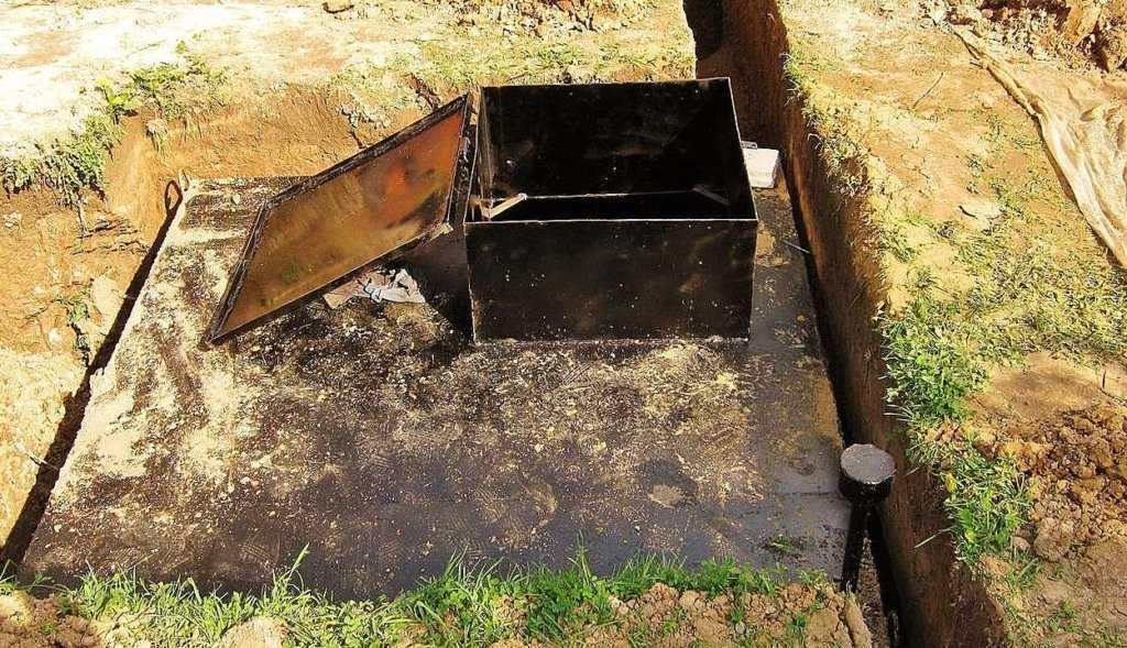 подземный металлический погреб