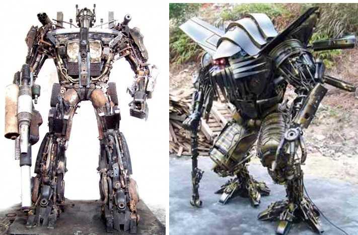 Сложные роботы из металлолома