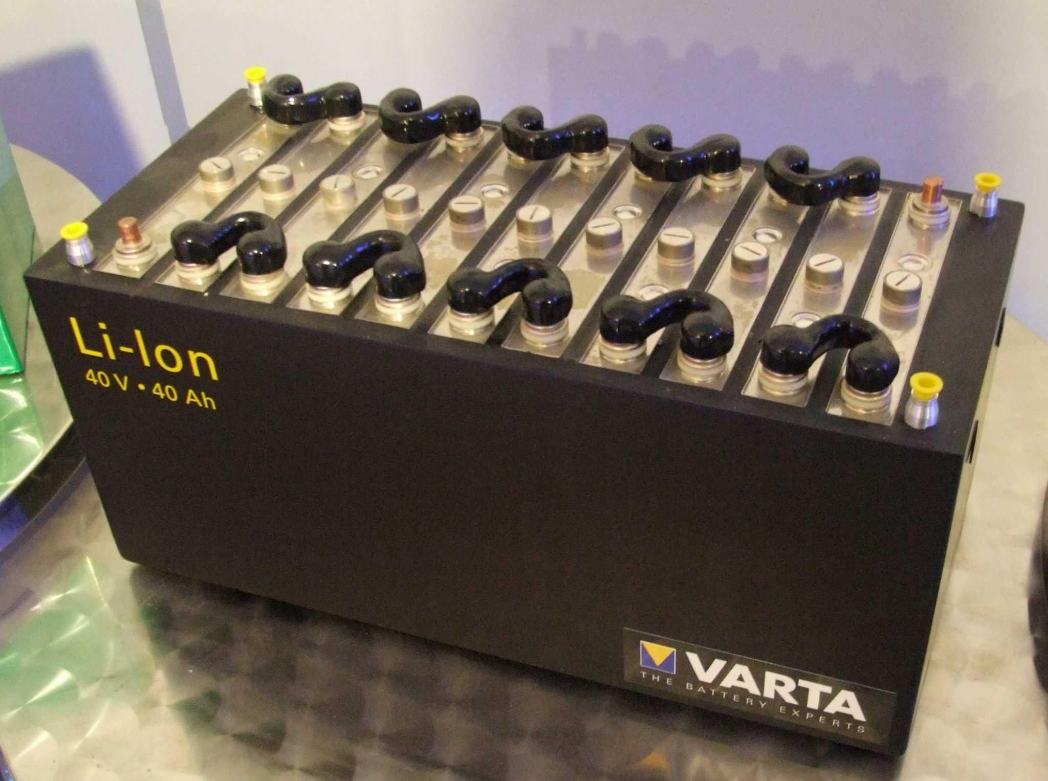 большой литий-ионный аккумулятор