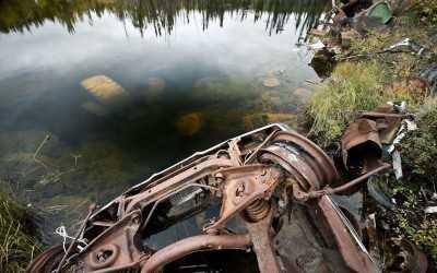 добыча металлолома в воде