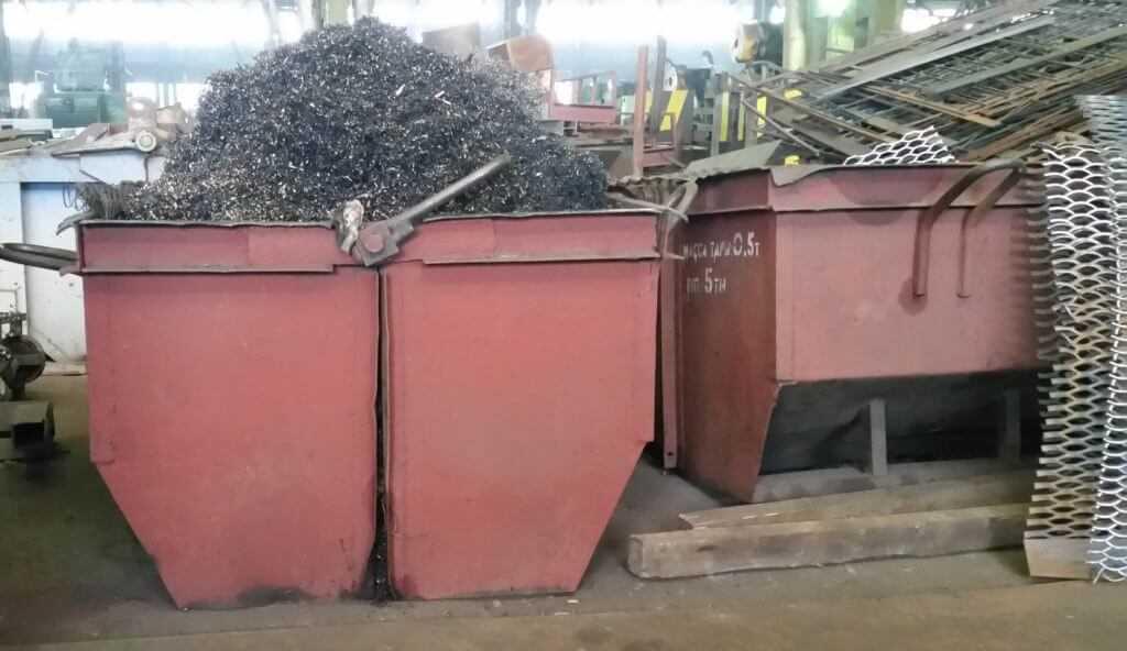 контейнеры под стружку и обрезки металла