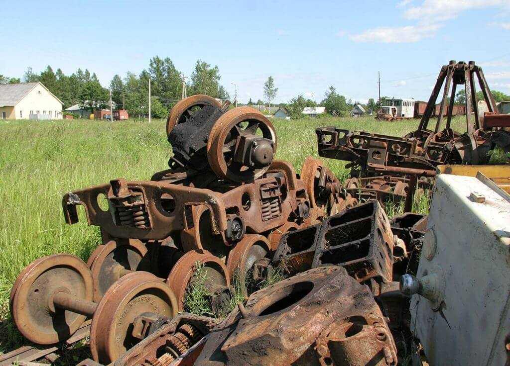 Типичный железнодорожный лом