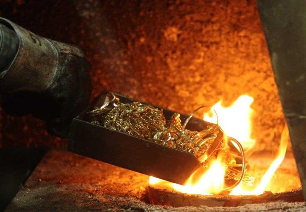 Переплавка лома золота