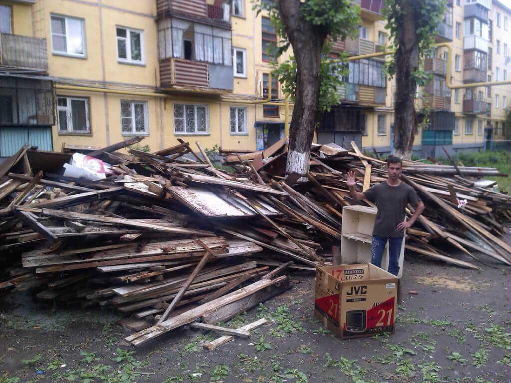 Деревянный мусор или лом деревянного строительного мусора