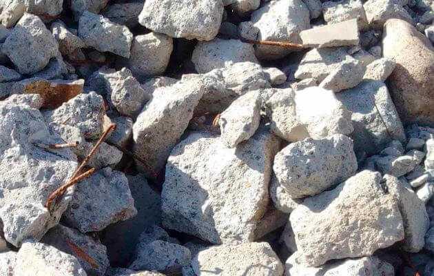лом железобетона бой бетона