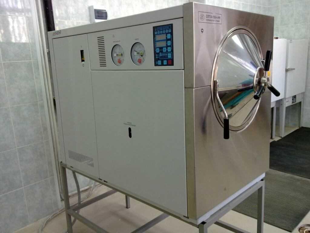 аппарат для стерилизации водяным паром