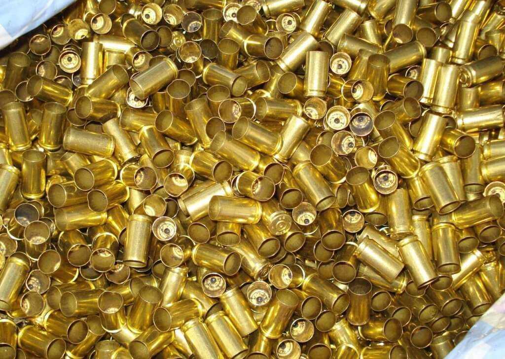 Стреляные латунные гильзы