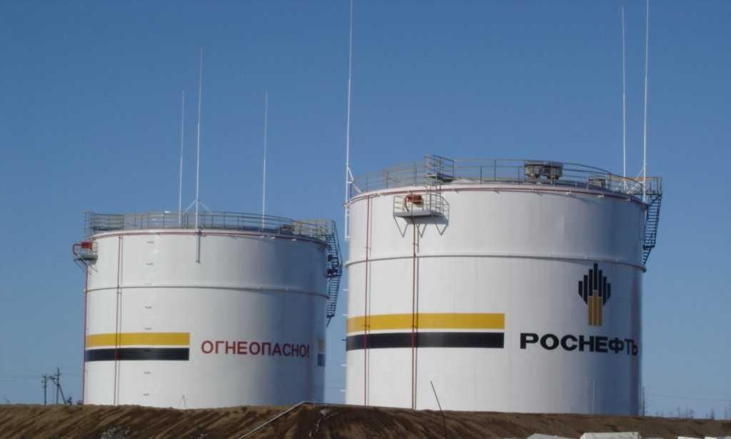 """В этих резервуарах хранится нефть компании """"Роснефть"""""""
