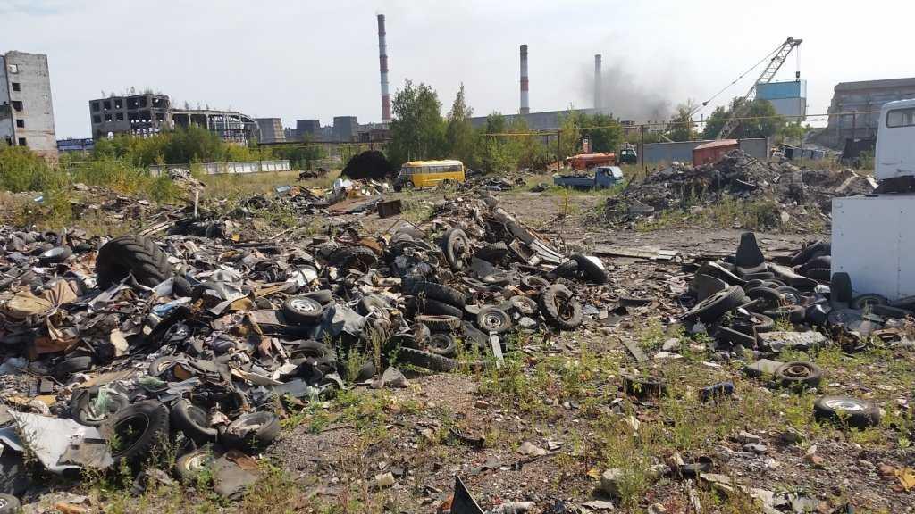 территория предприятия по утилизации