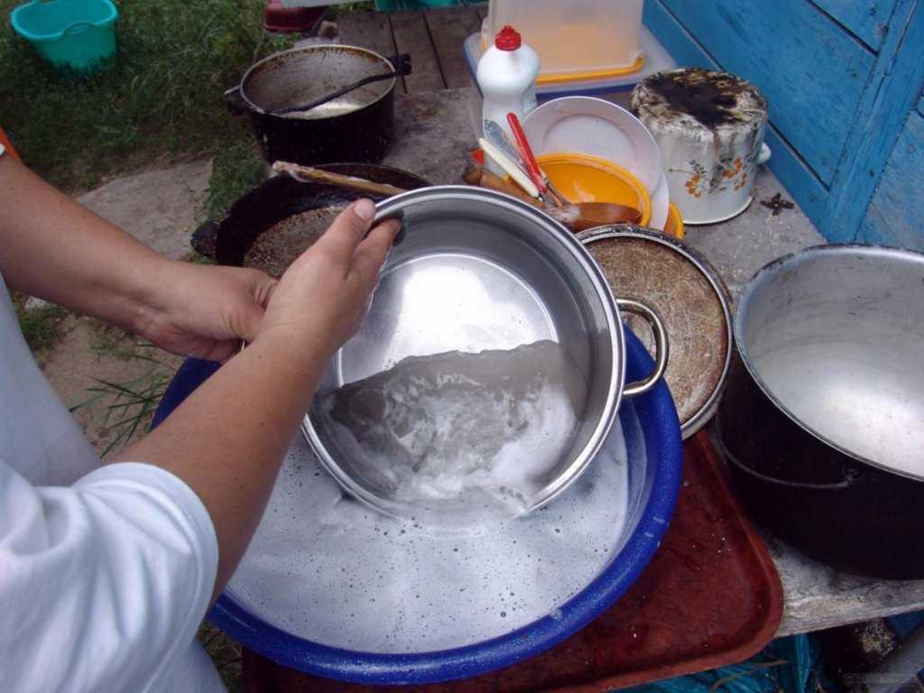 мойка алюминиевой посуды