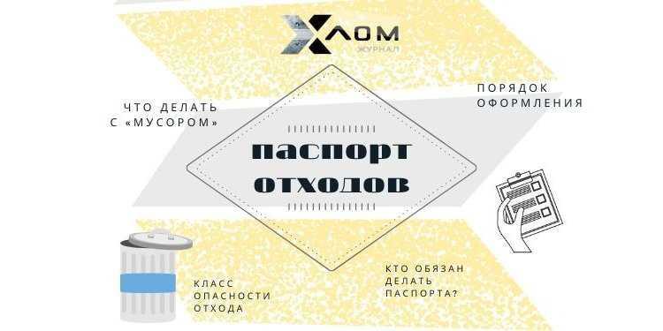 отходов Обложка 750x375 - Паспорт отходов 1-4 класса опасности: кто должен делать, порядок оформления